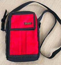 Eddie Bauer Cross Body Red & Black Travel Wallet Bag EUC