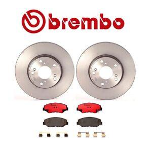 Brembo Front Disc Brake Rotors Ceramic Pads Kit for Honda Accord CRV Acura ILX