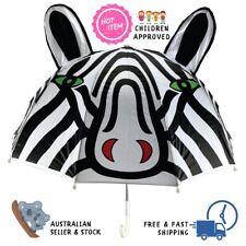 Stripey Zebra Umbrella For Children Kids Animal 3D Rain Play School