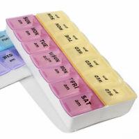 Pillendose 2 Massive Medikamentenbox 7 Tage Tablettenbox Pillenbox·Tablette K6B1