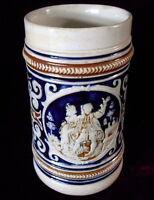 ANTIQUE DUMLER & BREIDEN BEER STEIN No. 375 - GERMANY 1/3 L Cobalt Blue 1930-36