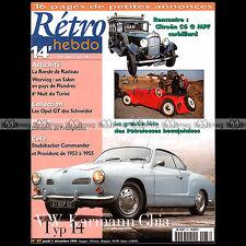 RETRO HEBDO N°87 VW VOLKSWAGEN KARMANN-GHIA TYPE 14 CITROËN C6 G MPF CORBILLARD