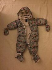 NWOT BABY GAP Girls Winter Down Puffer Snowsuit Bunting Coat 12-18 Months