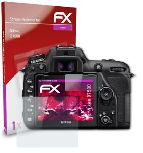 atFoliX Glasfolie für Nikon D7500 Panzerfolie 9H Schutzpanzer Displayschutzfolie