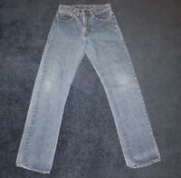 Vintage 70's Levis 505 Red Tag Light Wash Made In USA Denim Jeans  28x32