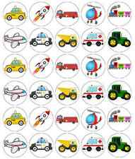 Vehicles Cartoon Children Cupcake Toppers Edible Wafer Paper Fairy Cake Toppers