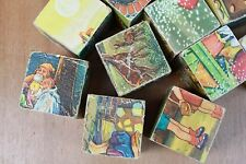 12 Vintage Toy Puzzle Picture Bricks Fairytail Old