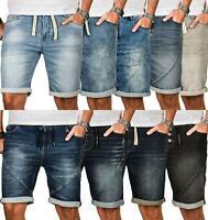 Sublevel Herren Sweat Jeans Shorts kurze Hose Bermuda Sommer Sweathose Slim NEU
