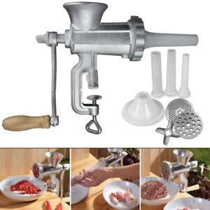 Manuell Fleischwolf Wurstmaschine Handkurbel Hackfleisch Wurstfüller mit Kurbel
