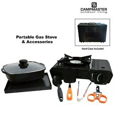 Portable Camping Butane Gas Stove Cooker Kit Cooking Pan Hot Plate Hard Case