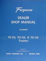 Ferguson TO 30 Tractor Repair Shop Manual TO30 1951 1952 1953 1954 Service Book