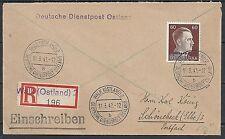 Ostland 1942 R-cover Deutsche Dienstpost Ostland WALK
