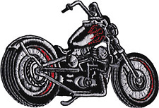 58008 Motorcycle Chopper Biker Motor Bike Red Flames Ride Gas Sew Iron On Patch