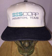 Vintage 80s SISCORP Houston, Texas Hat Cap Leather Strapback New Era GAS OIL USA