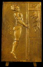 Médaille Concours de Gymnastique à Luxeuil-les-Bains 1949 sport 138mm medal