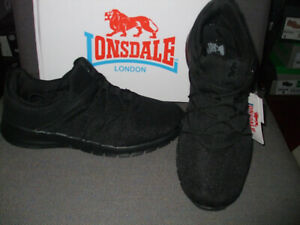 WOMENS LONSDALE EPIC BLACK LACED TRAINERS SIZES 7