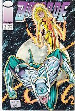 BRIGADE  #3 1993 IMAGE -ROB LIEFELD-p/s  2 TRADING CARDS 1ST BIRDS OF PREY...VF