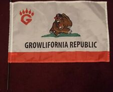 "Fresno Grizzlies Growlifornia Republic Flag SGA Nationals AAA MiLB 22"" x 14"""