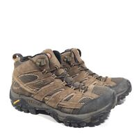 MERRELL Moab 2 Mid Waterproof Hiking Boots Earth Brown J06051 - Mens Size 8.5