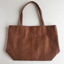 TOTE BAG Premium Python Pattern Leather Shoulder Shopper Handbag