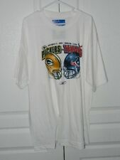 "HOUSTON TEXANS vs. PACKERS 11-24-04 ""XL"" T-SHIRT ""NEW"" 100% COTTON - TAG"
