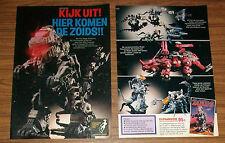 Seltene Werbung ZOIDS Mighty Zoidzilla Gorgon Scorpozoid Niederlande 1985