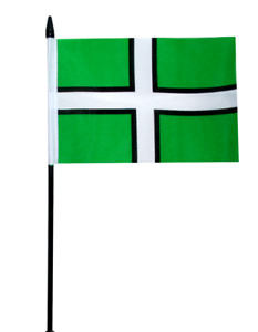 "Devon County Small Hand Waving Flag 6"" x 4"""