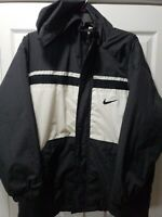 VTG Nike Full Zip Mens Insulated Windbreaker Winter Quilted Lined Jacket Sz LG