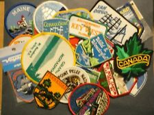LOT OF 34 VINTAGE STATE & TRAVEL Embroidered   Patches  * unused