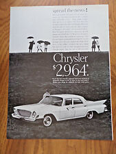 1961 Chrysler Newport Ad - $2,964