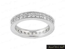 Genuine 0.50Ct Diamond Migrain Eternity Wedding Band Ring 14k White Gold G Si1