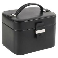 GUCCI Black Genuine Leather Structured Train Case Cosmetic Travel Bag Box Purse