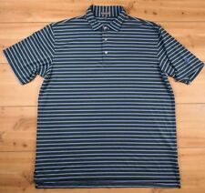 Peter Millar Summer Comfort Mens Casual Golf Polo Size X Large Green Striped JCC