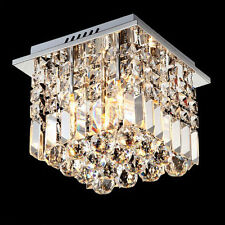 25CM Modern Contemporary Chandelier Crystal Ceiling Light Raindrop Lamp Lighting