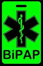 Hi-Viz Green BiPAP Carry-On Bag Tag - CPAP BiPAP APNEA POC