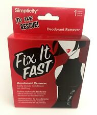Simplicity Fix It Fast Deodorant Stain Remover Sponge Travel On The Go New