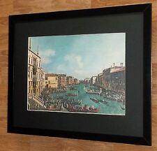 Regatta grand canal, canaletto impression-cadre 20''x16'', maîtres peintures