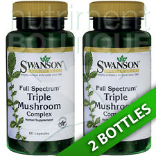 Swanson Premium Triple Mushroom Complex 2X60 Caps 600 mg Shiitake Reishi Maitake