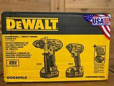 DeWALT DCK290L2 20-Volt Hammer Drill and Impact Driver