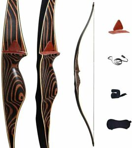 "Deerseeker Traditional Hunting Long bow 54""  Longbow RH 30-60lb longbow 1pcs"