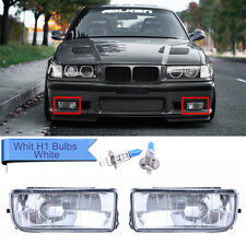 For BMW E36 92-98 M3 318 325 Replacement Fog Lights Lamps w/ H1 Bulbs Clear Lens