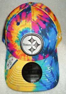 PITTSBURGH STEELERS 39THIRTY TIE DYE CRUCIAL CATCH NEW ERA CAP SIZE MED./LG. NWT