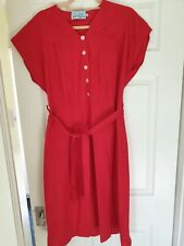 Heyday 1940s Vintage Style Red Dress 18 20 XL