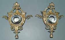 A Pair of Quality Elegant Cast Railway carriage or Ships Lamps.Gas ?? -Cut Glass