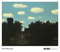 MODERN ART PRINT - The Empire of Light II by Rene Magritte MOMA Poster 26.5x30.5