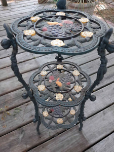 Heavy Wrought Iron 3 Tier Plant Stand~Vintage So Sweet!