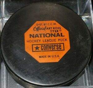 1969-77 LOS ANGELES KINGS LA NHL CONVERSE OFFICIAL GAME PUCK ART ROSS RUBBER