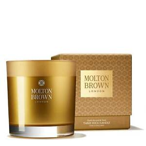 Molton Brown Oudh Accord & Gold Three  Wick Candle 480g