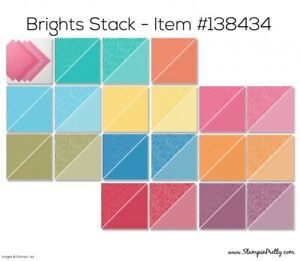 Stampin' Up! Brights Designer Series Paper Stack - 12x12 - 40 Sheets - NEW