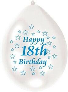 🔥 Happy 18th Birthday Party Celebration Latex Printed Balloons Decorations Boy